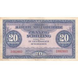 Autriche - Pick 107 - 20 shilling - 1944 - Etat : TB+