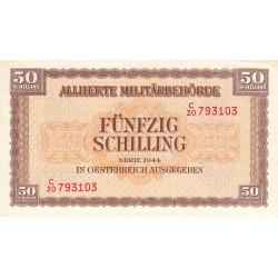 Autriche - Pick 109 - 50 shilling - 1944 - Etat : SUP