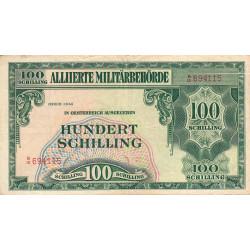 Autriche - Pick 110a - 100 shilling - 1944 - Etat : TB+