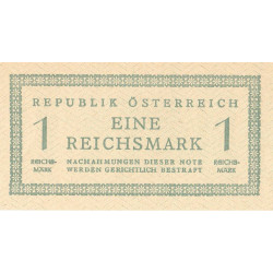 Autriche - Pick 113b - 1 reichsmark - 1945 - Etat : NEUF