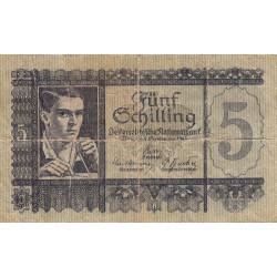 Autriche - Pick 121 - 5 shilling - 1945 - Etat : B+