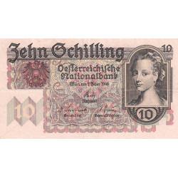 Autriche - Pick 122 - 10 shilling - 02/02/1946 - Etat : TTB+