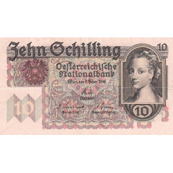 Autriche - Pick 122 - 10 shilling - 1946 - Etat : TTB+