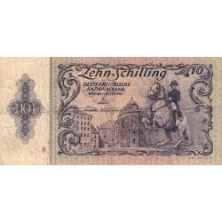 Autriche - Pick 127 - 10 shilling - 02/01/1950 - Etat : B+