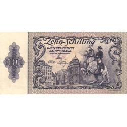 Autriche - Pick 128 - 10 shilling - 1950 - Etat : TB+