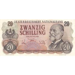 Autriche - Pick 136 - 20 shilling - 1956 - Etat : SUP-