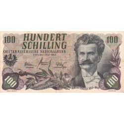 Autriche - Pick 138_1 - 100 shilling - 01/07/1960 - Etat : TTB-