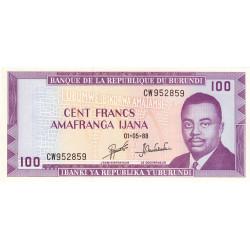 Burundi - Pick 29c_1 - 100 francs - Série CW - 01/05/1988 - Etat : NEUF