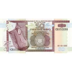Burundi - Pick 36e - 50 francs - Série CX - 05/02/2005 - Etat : NEUF