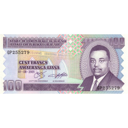 Burundi - Pick 37c - 100 francs - 01/08/2001 - Etat : NEUF