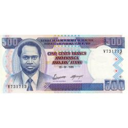 Burundi - Pick 37A - 500 francs - Série V - 05/02/1995 - Etat : NEUF