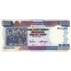 Burundi - Pick 38a - 500 francs - 01/05/1997 - Etat : NEUF