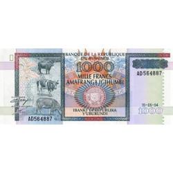 Burundi - Pick 39a - 1'000 francs - Série AD - 19/05/1994 - Etat : NEUF