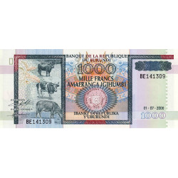 Burundi - Pick 39c - 1'000 francs - 01/07/2000 - Etat : NEUF