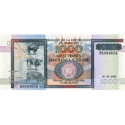 Burundi - Pick 39d - 1'000 francs - 01/052006 - Etat : NEUF