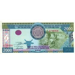 Burundi - Pick 41a - 2'000 francs - Série S - 25/06/2001 - Etat : NEUF