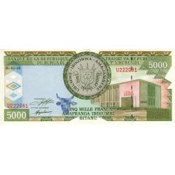 Burundi - Pick 42a - 5'000 francs - Série U - 05/021999 - Etat : SUP