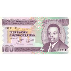 Burundi - Pick 44a - 100 francs - 01/05/2010 - Etat : NEUF