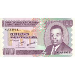 Burundi - Pick 44b - 100 francs - Série NL - 01/09/2011 - Etat : NEUF