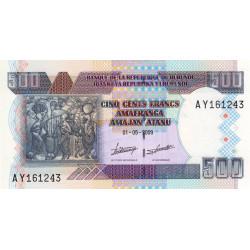 Burundi - Pick 45a - 500 francs - Série AY - 01/05/2009 - Etat : NEUF