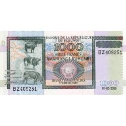 Burundi - Pick 46 - 1'000 francs - Série BZ - 01/05/2009 - Etat : NEUF