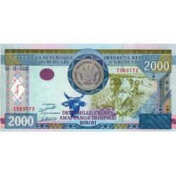 Burundi - Pick 47 - 2'000 francs - Série T - 01/12/2008 - Etat : NEUF