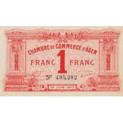 Agen - Pirot 2-14 - 1 franc - 14/06/1917 - Etat : SPL
