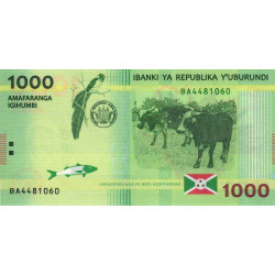 Burundi - Pick 51a - 1'000 francs - Série BA - 15/01/2015 - Etat : NEUF