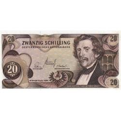 Autriche - Pick 142 - 20 shilling - 02/07/1967 - Etat : NEUF