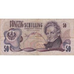 Autriche - Pick 143 - 50 shilling - 1970 - Etat : TB-