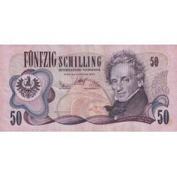 Autriche - Pick 144 - 50 shilling - 1970 - Etat : TB