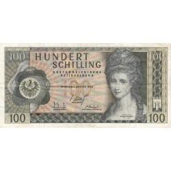 Autriche - Pick 145 - 100 shilling - 02/01/1969 - Etat : TB-