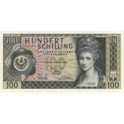 Autriche - Pick 144 - 100 shilling - 1969 - Etat : SUP