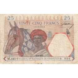 AOF - Pick 22_2b - 25 francs  - Etat : B+