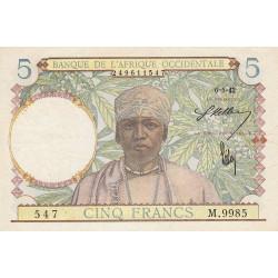 AOF - Pick 25_3 - 5 francs - 06/05/1942 - Etat : TTB+