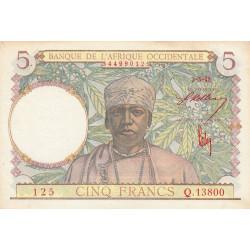 AOF - Pick 26 - 5 francs  - Etat : SUP+