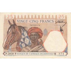 AOF - Pick 27_2 - 25 francs - 24/02/1942 - Etat : SPL