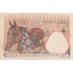 AOF - Pick 27_3 - 25 francs - 22/04/1942 - Etat : TTB