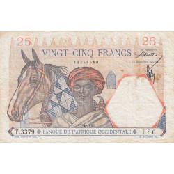 AOF - Pick 27_3 - 25 francs - 22/04/1942 - Etat : TB+