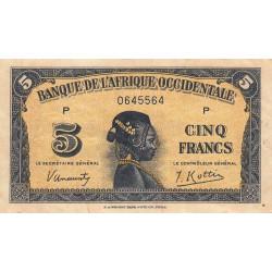 AOF - Pick 28a_1 - 5 francs  - Etat : TTB+