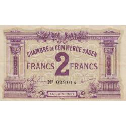 Agen - Pirot 2-15 - 2 francs - 1917 - Etat : SUP