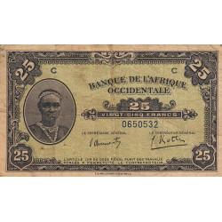 AOF - Pick 30a - 25 francs - 14/12/1942 - Etat : B+