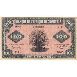 AOF - Pick 31a - 100 francs  - Etat : TB+