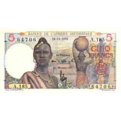 AOF - Pick 36_2i - 5 francs - 21/11/1953 - Etat : SUP+