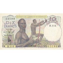 AOF - Pick 37_2i - 10 francs - 21/11/1953 - Etat : TTB