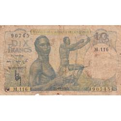 AOF - Pick 37_2i - 10 francs - Etat : AB