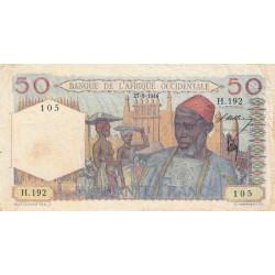 AOF - Pick 39_1a - 50 francs - Etat : TB+