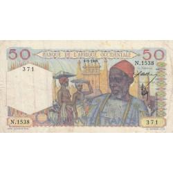 AOF - Pick 39_1c - 50 francs - Etat : TB+