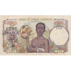 AOF - Pick 40_1b - 100 francs - 02/09/1946 - Etat : TB+
