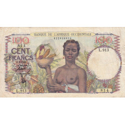 AOF - Pick 40_1b - 100 francs - Etat : TB+